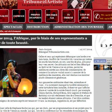 Tribune 2 l' artiste photos jazz à Vienne soirée Afrique