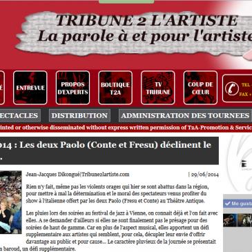 Tribune 2 l'artiste photos de Paolo Fresu Quintet et Paolo Conté