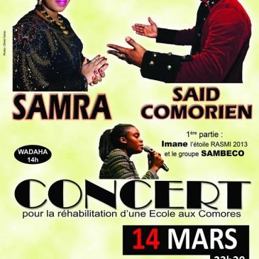 Photos de l'affiche du concert de Samra