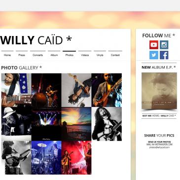 Photos pour le site de Willy Caïd