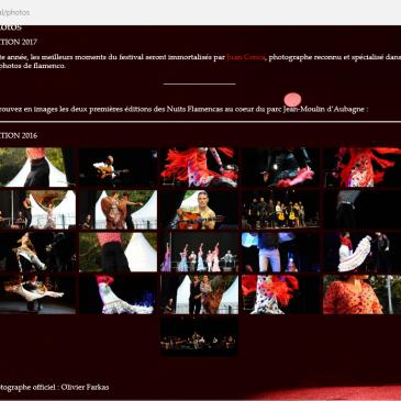 Photos pour le site des nuits flamencas d'Aubagne