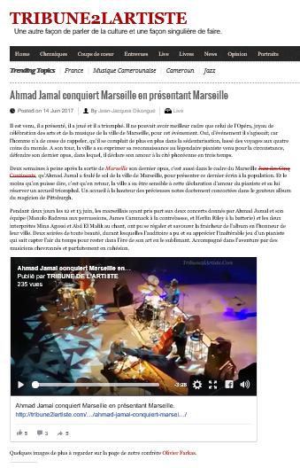 Photos et video pour T2A du concert d'Ahmad Jamal à Marseille